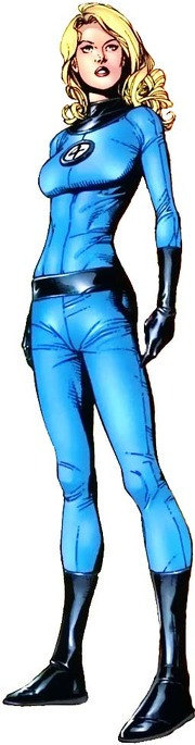 Invisible Woman Blue and Black Jumpsuit Costume