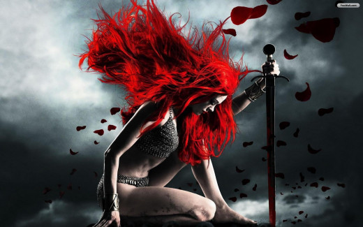 Red Haired Warrior ... Strength and Weakness