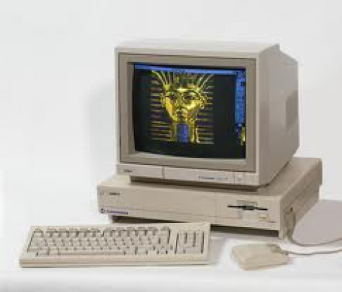 Amiga Computer System:  The Omega, along with Atari, were the first video game consoles to enter into folks homes.