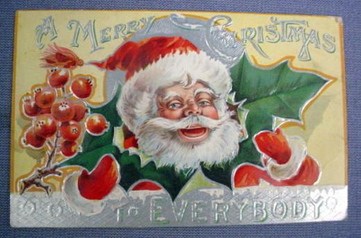 Christmas postcard date unknown, circa 1900