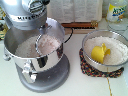 Adding the Flour to the wet ingredients