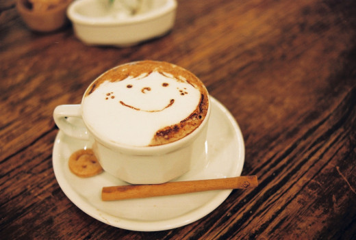 A morning latte might give you a brief energy boost and offer an outlet for some artistic urges, but too much will disrupt your sleep.