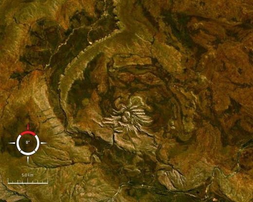 NASA Image of Western Australia's Impact Spider Crater