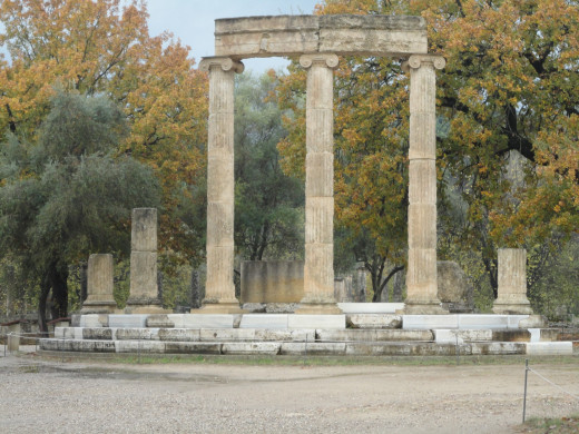 Ionic columns at Olympia