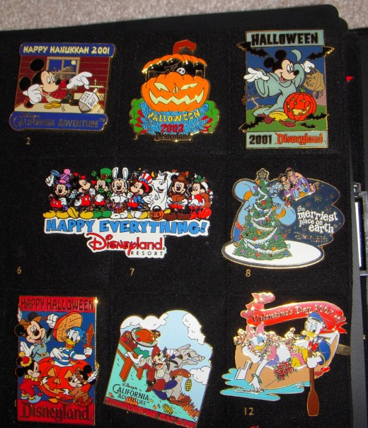 Various holiday pins