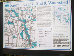 Interpretative panel with map, Sawmill Valley Trail, Mississauga