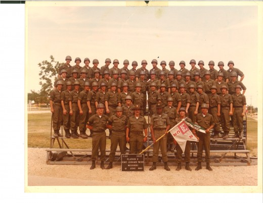 Figure 2: 1980 Third Platoon, Charlie Company what a good looking group of guys