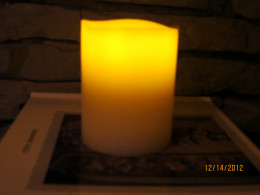 A nice option when space is limited, the flameless candle is safe!