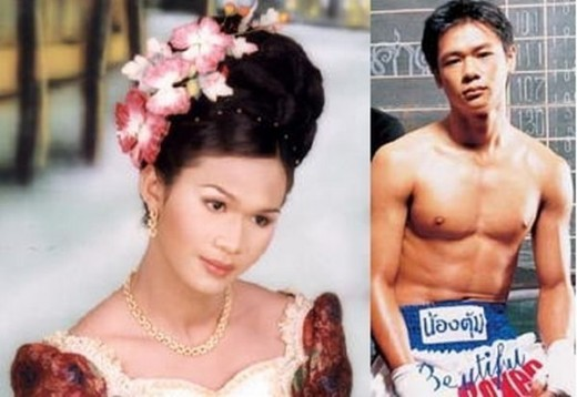 Nong Toom ,Thai kick-boxing instructor.She underwent a sex-change operation in 1999.