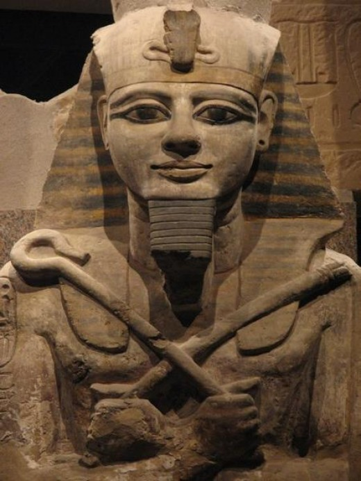 This statue of Ramses II is in the Nubian Museum.
