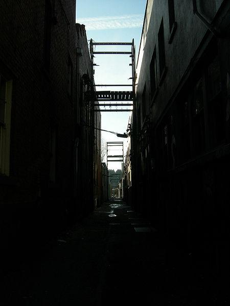 Never corner yourself in a dark alley like this one.  A wise person always has an escape.