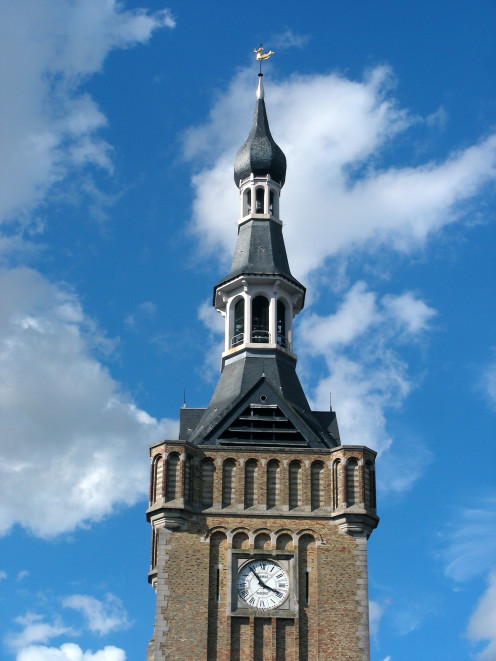 Bailleul Town Hall: the belfry