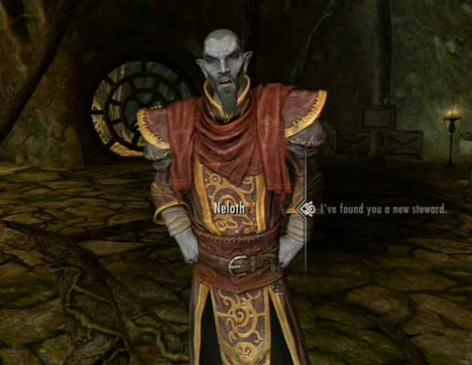 Skyrim Find Varona for Neloth in the reluctant steward quest, and then find him a new steward.