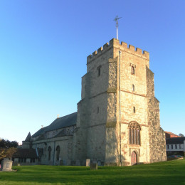 St Mary the Virgin's Church, Church Street, Old Town, Eastbourne, East Sussex, England. Eastbourne's ancient parish church.