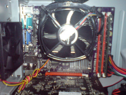 Fan and Heat Sink over the CPU