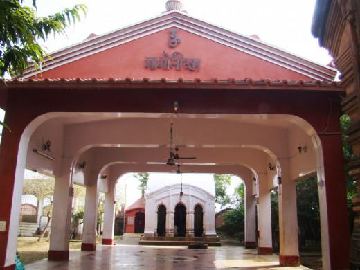 Nat Mandir; Temple of Goddess Mauliksha,. Maluti