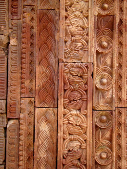 Vegetative decoration in terracotta; Maluti
