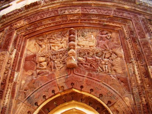 Battle of the Ramayana; terracotta panel; Maluti