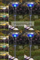 TEKTRUM TWO-IN-ONE STAINLESS STEEL COLOR CHANGING SOLAR LIGHTS