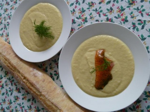 This delicious Potato Leek soup recipe can be served hot or cold.