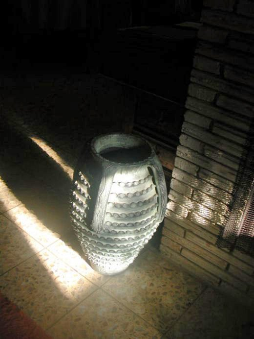 My photograph of the urn by my fireplace.