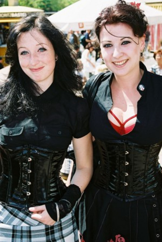 Goth Girls in Corsets