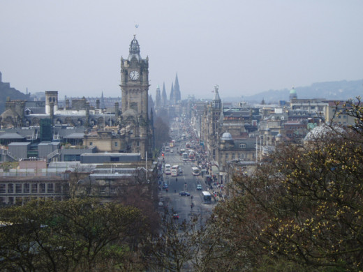 Princess St. from Calton Hill