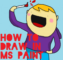 How to draw in MS Paint Tutorial