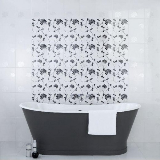 Patterned tiles are often designed using a roller print to create some fun products.