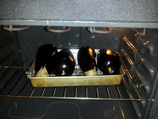 Place the pan in the oven.
