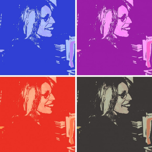 Here's my pop art with four photos