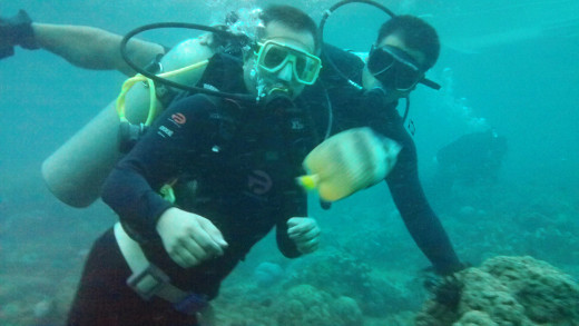 That's me on the left with my Dive buddy