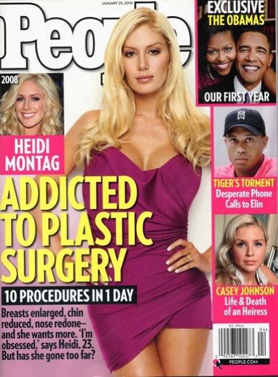 People magazine Heidi Montag Plastic Surgery issue.