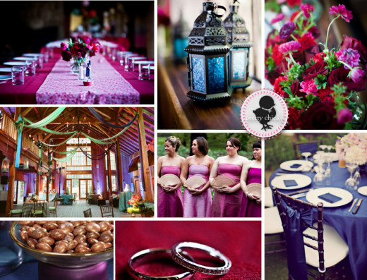 Eggplant - What a great color for a wedding this season!