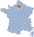 Map location of Oise department, France
