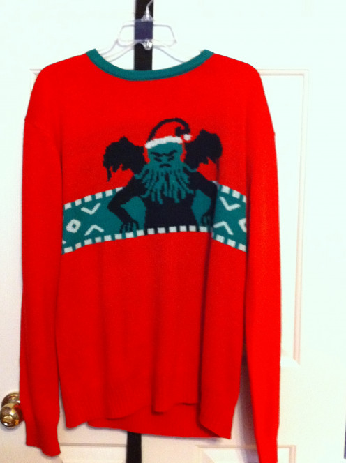 Cthulhu Christmas Sweater from Archie McPhee