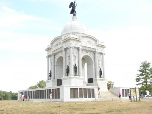 Pennsylvania Monumeht on Gettyburg Battlefield