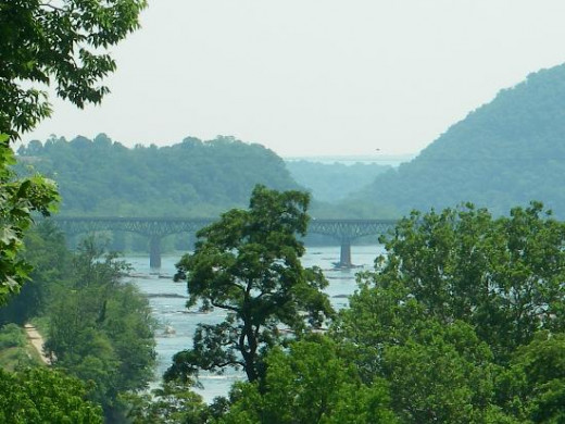 View from Harper's Ferry overlooking the Potomac River