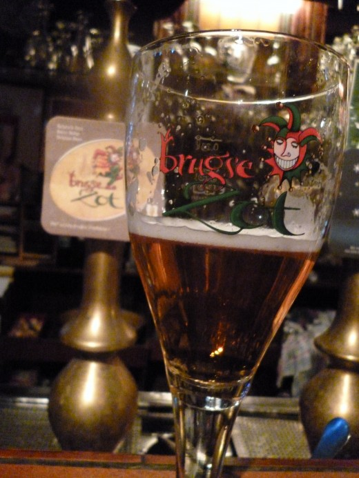 Belgium beer at 't Brugs Beertje' bar