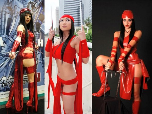 Elektra Cosplay Costumes Elektra Marvel Costume