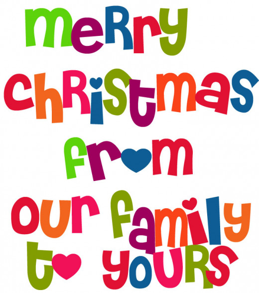 Free Cute Christmas Clipart - Merry Christmas from our Family to Yours!