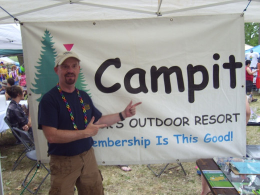 Here I am at West Michigan Pride 2012, with the Campit Resort booth. Campit is GLBT campground in the gay Saugatuck/Douglas area, which is known as the San fransisco of the Midwest. I plan to volunteer again in 2013
