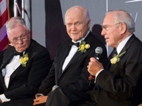 Neil Armstrong, John Glenn, and Jim Lovell (Apollo 13), all from Ohio, reflect on their years in NASA's astronaut program.