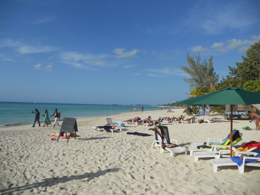 '7 Mile Beach'- Seven miles of pristine beach on Negril's west coast.