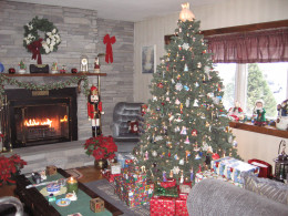 Our living room at Christmas