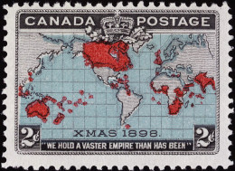 "A 19th century Canadian postage stamp bearing the phrase ""Xmas 1898"""