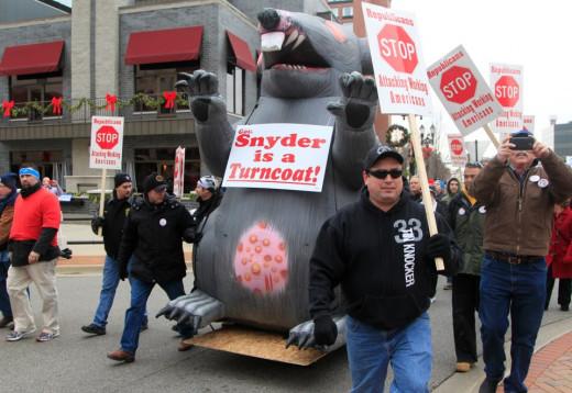 Feelings of betrayal by Union Members in Michigan