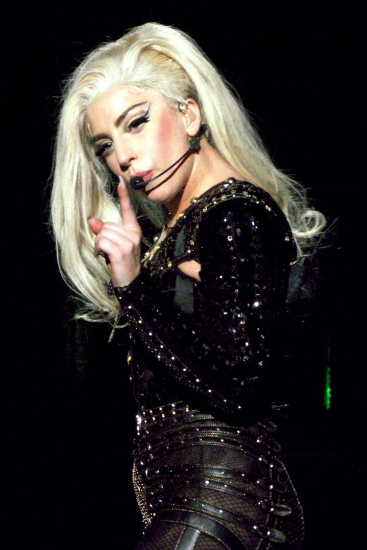 Lady Gaga in 2012, during The Born This Way Ball Tour