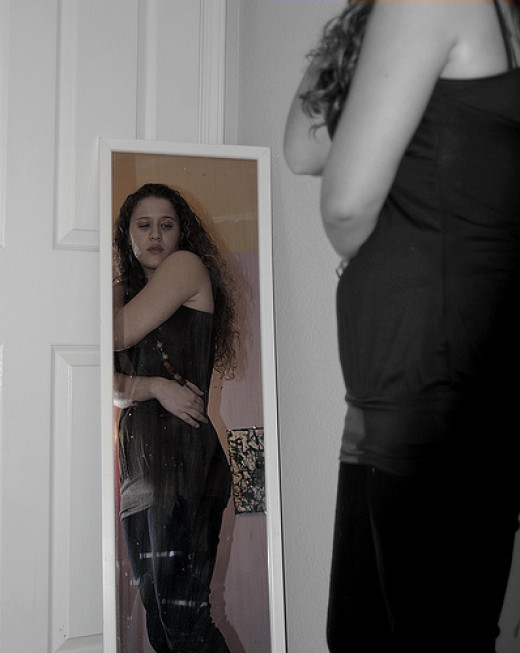 Even thin girls with anorexia nervosa believe they are fat.