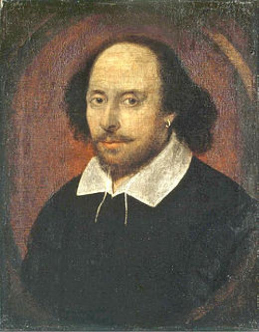 Portrait of William Shakespeare, the Bard.